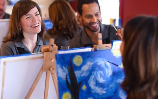 Team Building Event Ideas Painting Party Painting With A Twist